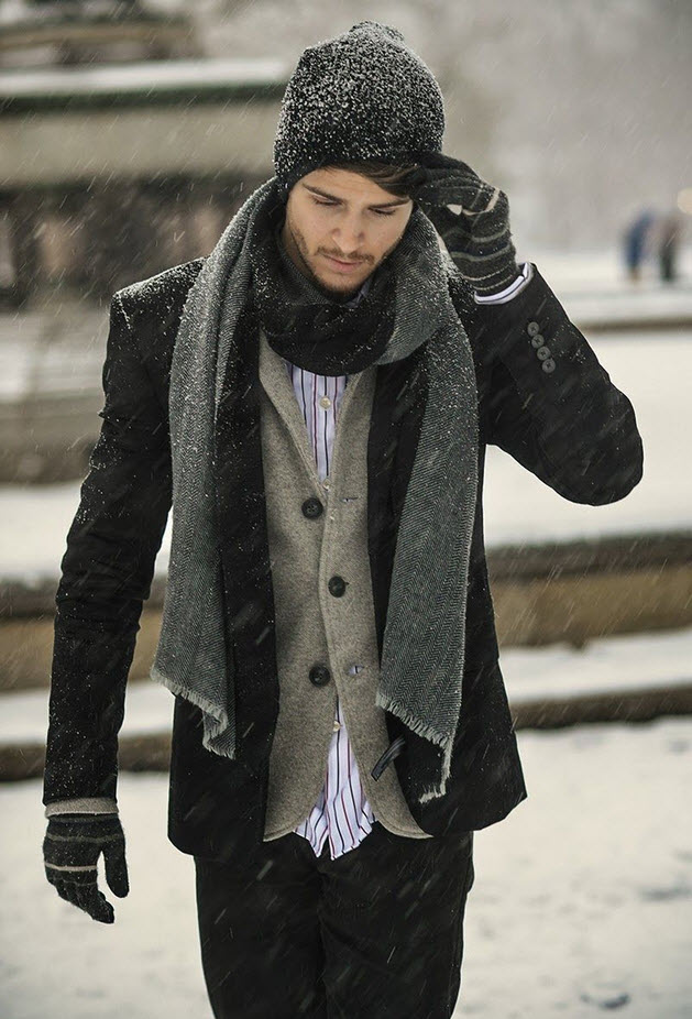 layered clothing for man