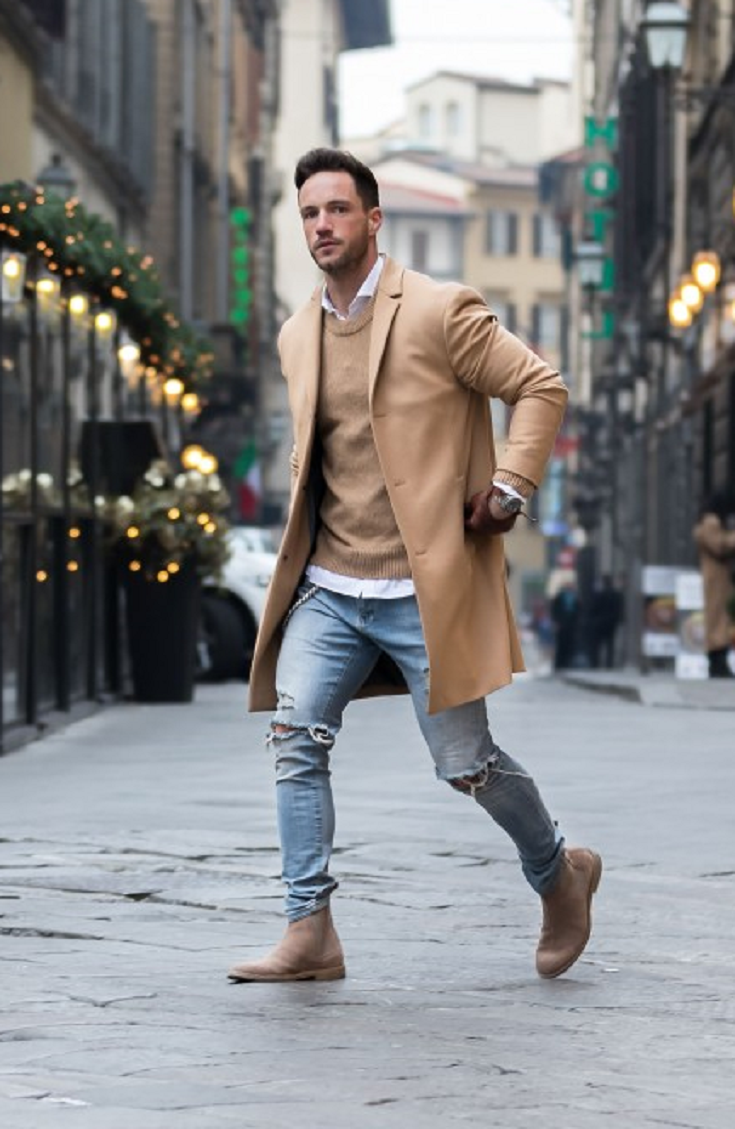 stylish man winter outfit