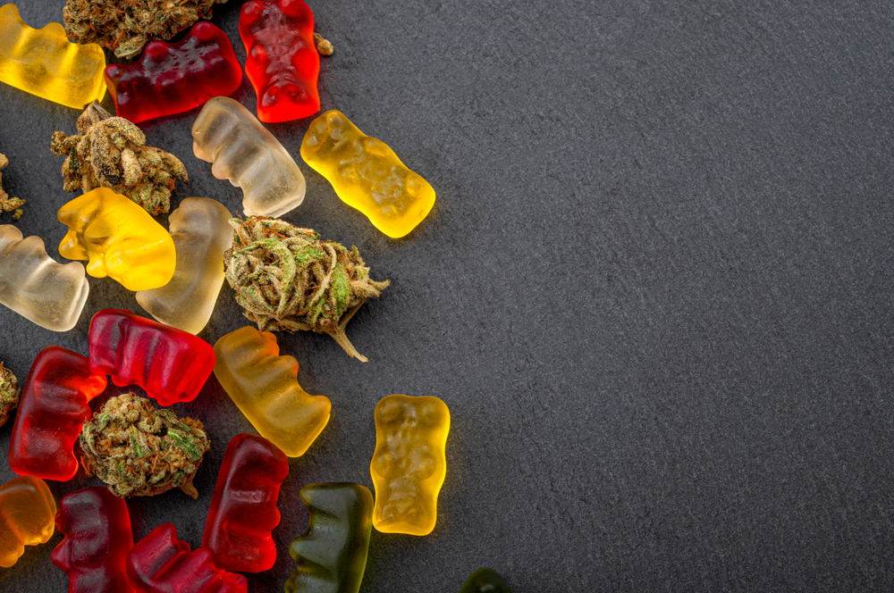 CBD Gummies on the table